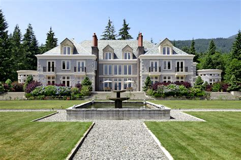 a luxurious manor estate in columbia canada