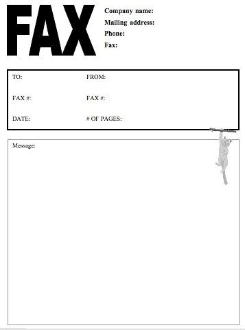 blank fax cover letter  samplebusinessresumecom