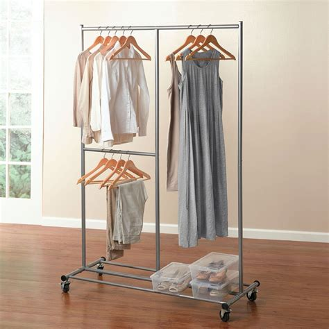Clothes Closet Rack by Jumbo Rolling Garment Rack Closet Brylanehome Organize Time Money Space
