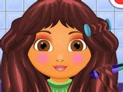 dora hairstyles games cute dora haircuts play the girl game online
