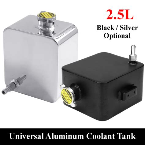 Tank Radiator Picanto Lama 1 universal polished 2 5l aluminum water coolant radiator overflow recovery tank alex nld