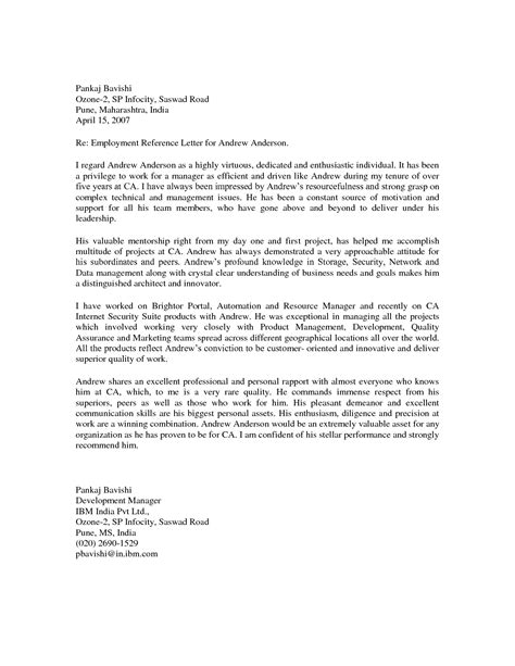 Recommendation Letter Format Employment best photos of letter of recommendation for employment