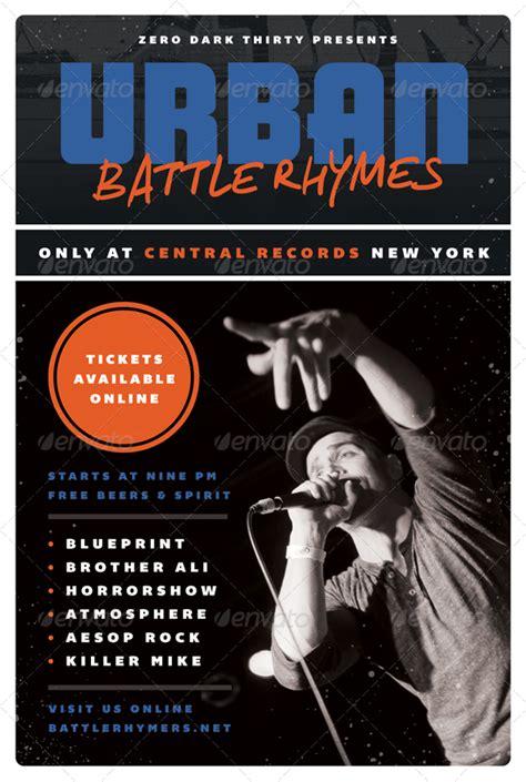 Battle Rhymes Hip Hop Flyer Template Graphicriver Hip Hop Powerpoint Template