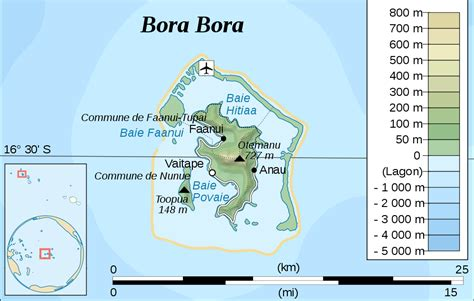 bora bora on map bora bora map