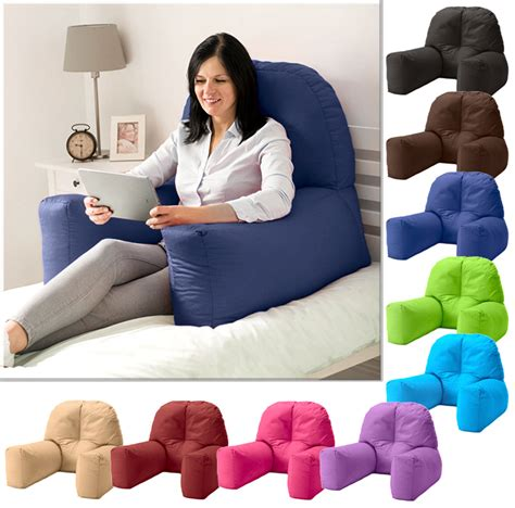 bed reading pillow with arms chloe bed reading bean bag cushion arm rest back support