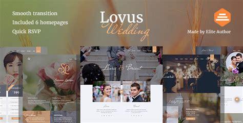 Wedding Vendor Websites by Lovus Wedding And Wedding Planner Website Template By