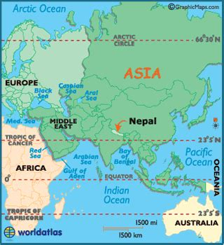 where is nepal on the map nepal map geography of nepal map of nepal worldatlas
