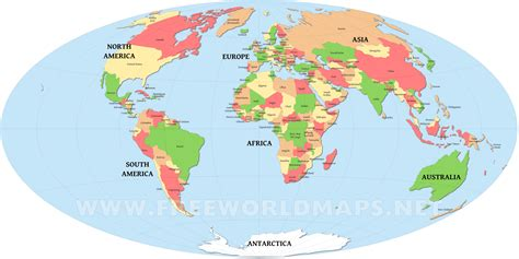 world map with countries free large images