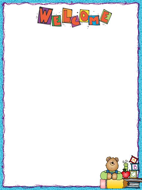 Parent Letter Border Back To School Letter Freebie By The