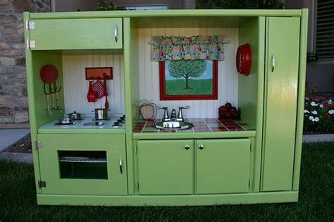 play kitchen from old furniture so neat a whole website that shows how to make kids play things from old furniture love it