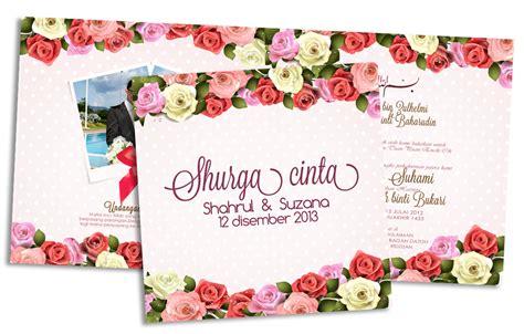 design backdrop kahwin kad floral kad lipat 2 kad kahwin lovely
