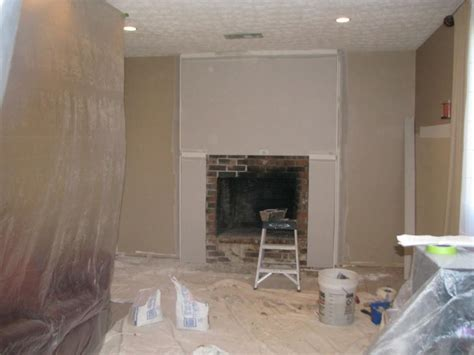 Drywall Brick Fireplace before and after fireplace photos add space and value to your home remodeled brick fireplace