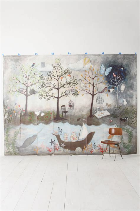 Enchanted Forest Wall Mural enchanted forest mural anthropologie