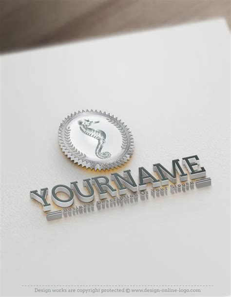 exclusive logo design seahorse logo templates