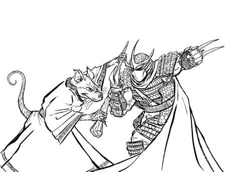 teenage mutant ninja turtles shredder coloring pages splinter vs shredder by mardoza on deviantart