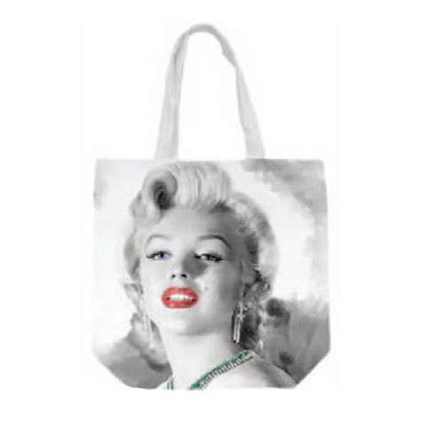 Totebag Marilyn Black marilyn canvas tote bag surreal