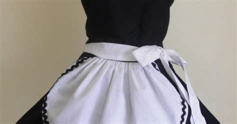 pattern for french maid apron french maid apron pinup retro style black by