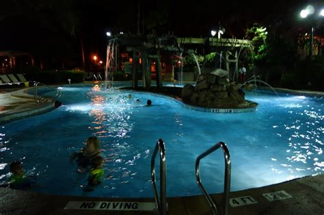 pool at night review the pools at disney s port orleans riverside resort