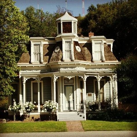 pretty pale blue house   porch