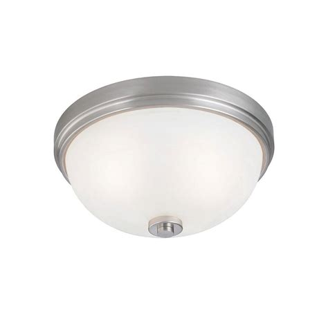 Ceiling Light Fixtures Flush Mount Westinghouse 2 Light Ceiling Fixture Brushed Nickel Interior Flush Mount With Frosted White