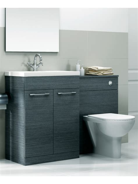 Bathroom Furniture Units Combination Sets Grey Slimline 60cm Combination Unit 2 Door