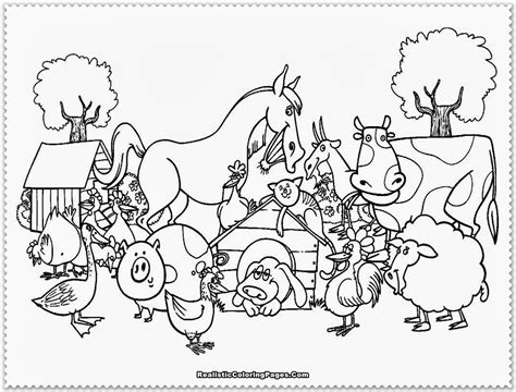 Animal Coloring Page by Diy Farm Crafts And Activities With 33 Farm Coloring