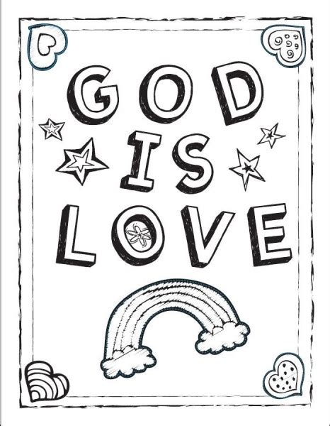 Free God Love Children Coloring Pages God Is Coloring Page