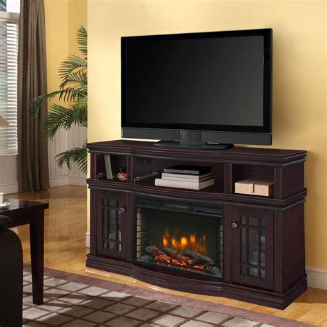 Muskoka Electric Fireplace Muskoka Sutton 56 In Media Electric Fireplace In Espresso 370 154 48 The Home Depot