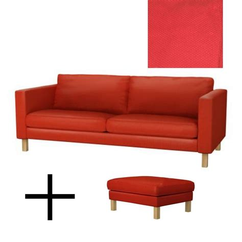 sofa footstool ikea karlstad sofa bed and footstool slipcovers sofabed