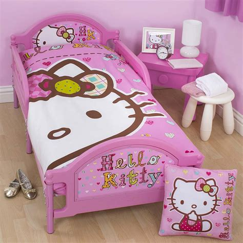 hello kitty toddler bed hello kitty folk junior toddler bed with mattress new ebay