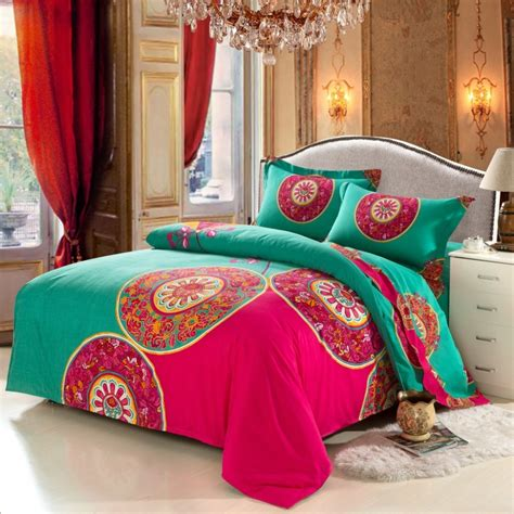 bohemian bed set aliexpress com buy bohemian bedding set 4pcs boho style
