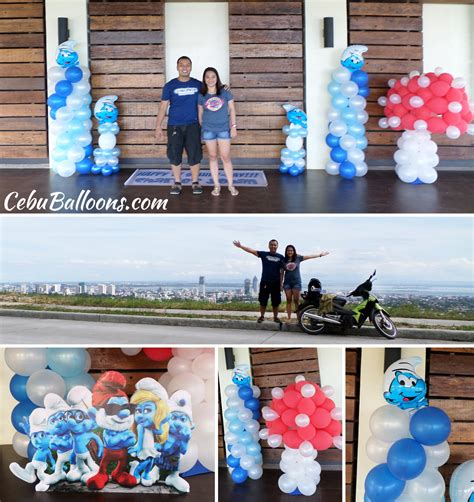 smurfs theme decorations smurfs cebu balloons and supplies