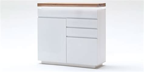 kommode weiss 120 cm kommode romina wei 223 matt asteiche 120 cm highboard xl