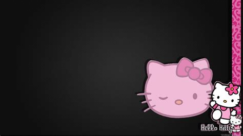 wallpaper hello kitty black and white pink and black hello kitty backgrounds wallpaper cave