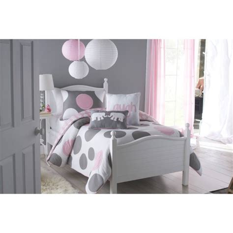 Polka Kid Set vcny home pink parade polka dot reversible bedding