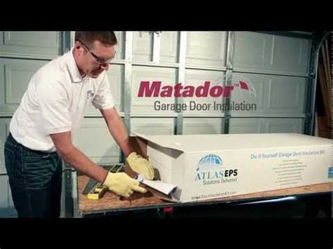 matador garage door insulation kit garage door insulation diy radiant barrier how to save money and do it yourself