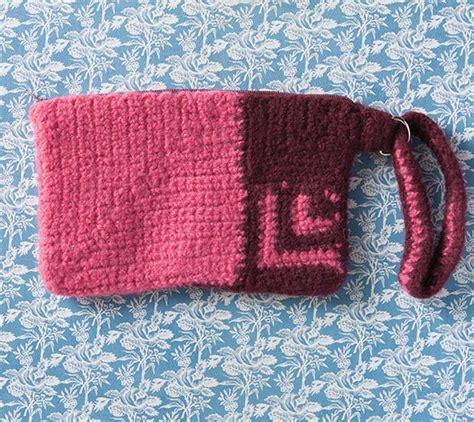 knitted zippered pouch pattern weir zipper pouch knitting patterns and crochet patterns