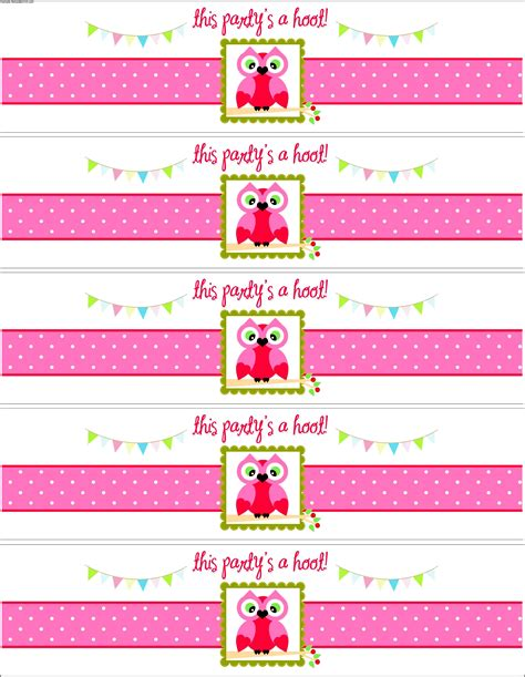 free template for water bottle labels free water bottle label template baby shower sle