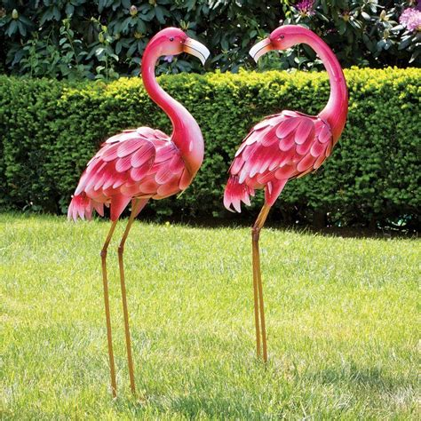 Bird Statues Garden Decor Metal Flamingo Garden Statues Decor Lawn Yard Garden Sculpture Bird Patio Ebay