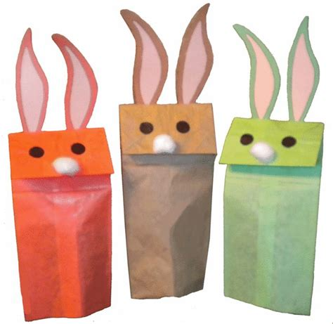 easter bunny paper bag puppet template paper bag bunny puppet crafts for work