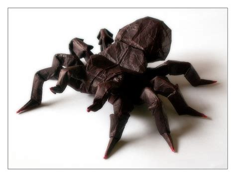 Origami Tarantula - origami tarantula a really impressive model designed by
