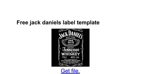 design jack daniels label invitation template for google docs image collections
