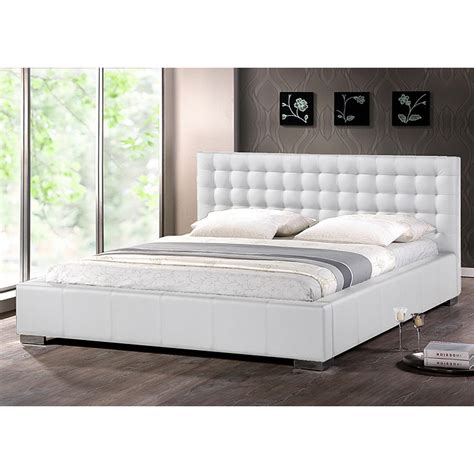 wisconsin bedding madison king platform bed square tufts metal legs