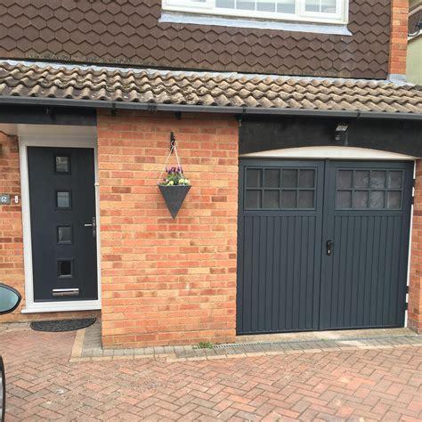 garage door with a door matching bedford side hinged and front door in anthracite