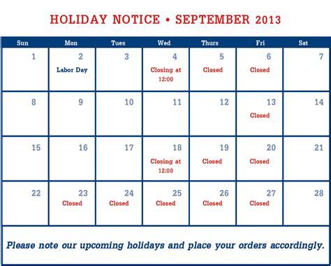 Calendar September 2013 Royalbag