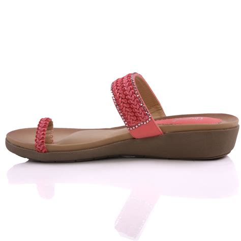 pink womens slippers unze womens minal braided wedge slippers uk size 3 8 pink
