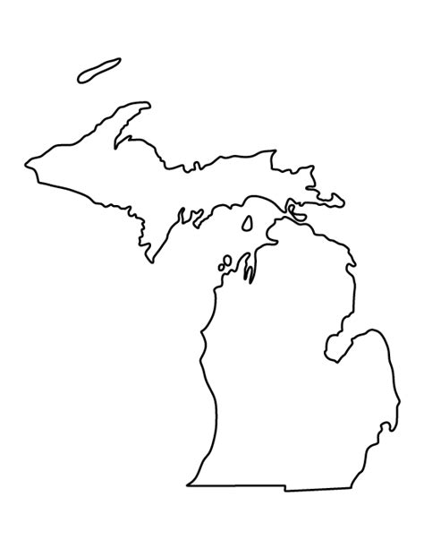 template of michigan michigan pattern use the printable outline for crafts creating stencils scrapbooking and