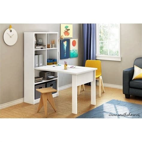office work table with storage south shore annexe work table and storage unit combo in
