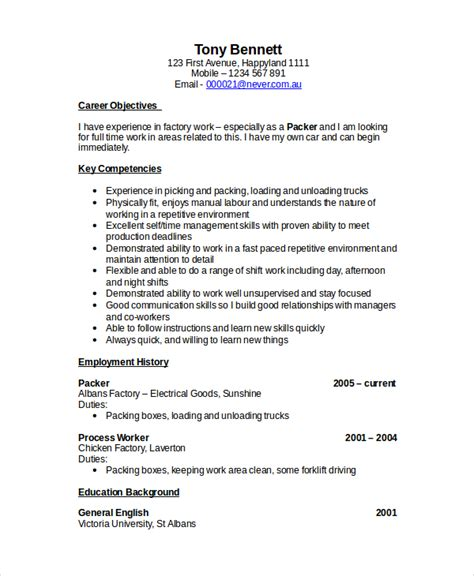 forklift driver resume sle forklift resume template 6 free word pdf document