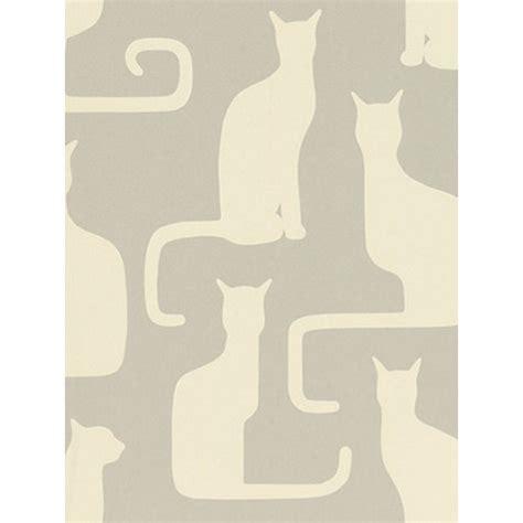 Cat Wallpaper John Lewis | buy sanderson omega cats wallpaper grey ivory 211066